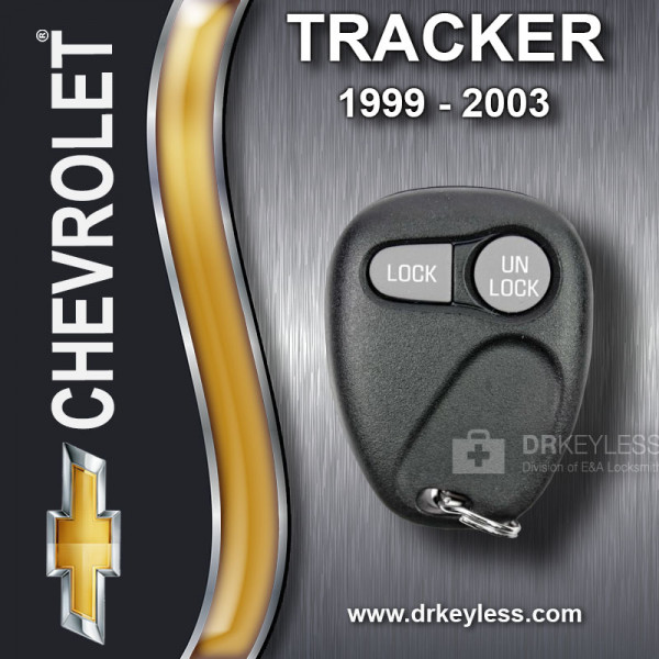 Chevrolet Tracker Keyless Entry Remote 2B without Anti-Theft 16245102 AB01502T 1999-2003