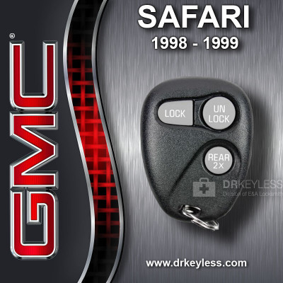 GMC Safari Keyless Entry Remote 3B Trunk 2X - 16245105 AB01502T 1998 - 1999