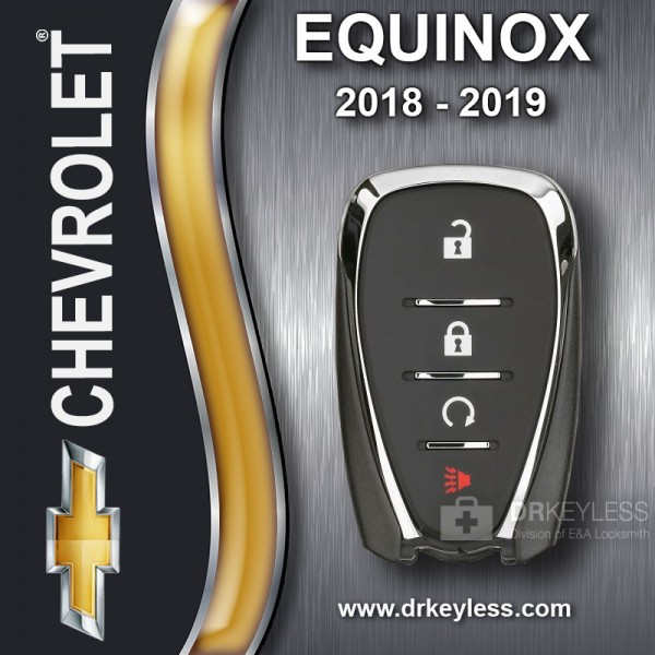 Chevrolet Equinox Smart Key 4B Remote Start HYQ4AA 2018 - 2019