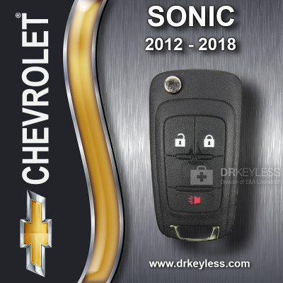 REFURBISHED Chevrolet Sonic Remote Flip Key 3B KR55WK50073 HIGH SECURITY 2012-2018