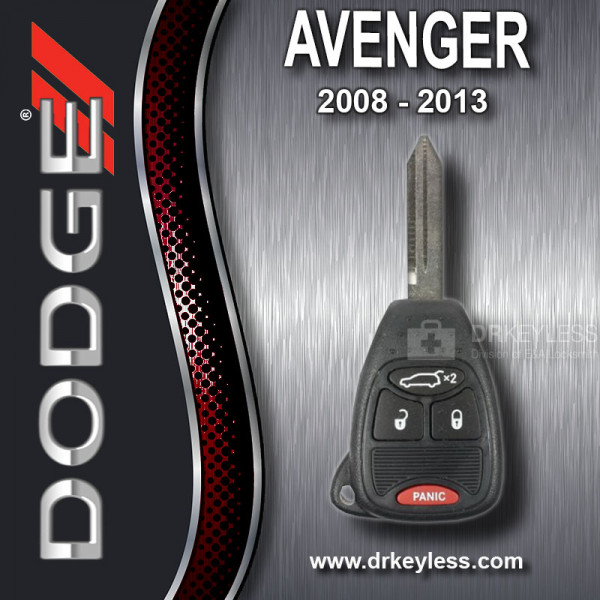 Dodge Avenger Remote Head Key 4B Hatch OHT692427AA - OHT692713AA / 2008 - 2013