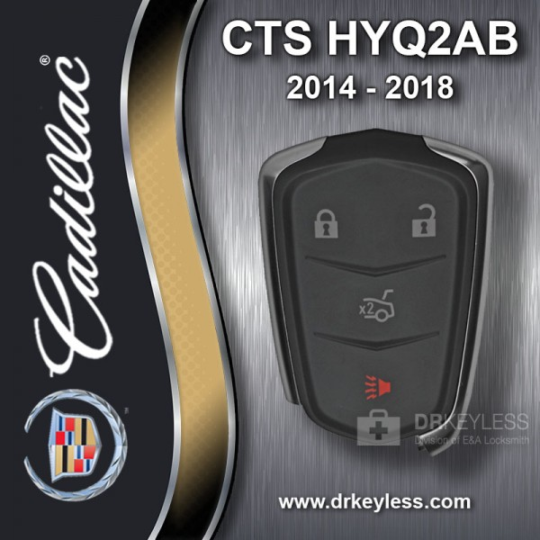REFURBISHED Cadillac CTS  2014 - 2018 Smart Key 4B Trunk - HYQ2AB