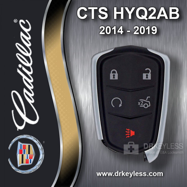 REFURBISHED Cadillac CTS 2014 - 2019 Smart Key 5B Trunk / Remote Start - HYQ2AB / 13598528