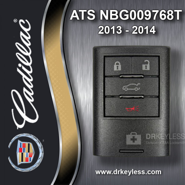 REFURBISHED Cadillac ATS Smart Key 4B Trunk - NBG009768T 2013-2014