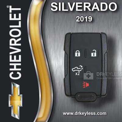 REFURBISHED Chevrolet Silverado Keyless Entry Remote 4B Tailgate M3N32337200 2019