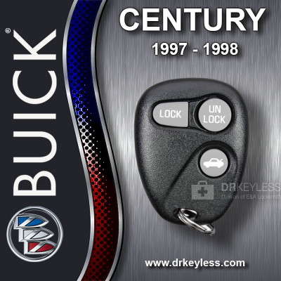 Buick Century Keyless Entry Remote 3B Trunk without Anti-Theft 16245103 AB01502T 1997 - 1998