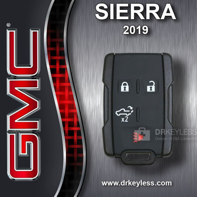REFURBISHED GMC Sierra Keyless Entry Remote 4B Tailgate M3N32337200 2019