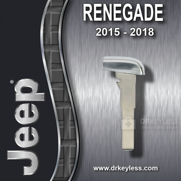 Aftermarket Jeep Renegade Emergency Key SIP22 / 2015 - 2018
