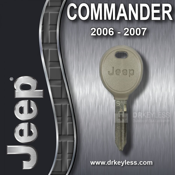 Jeep Commander Transponder Key with Logo 05102247AA / 2014 - 2018