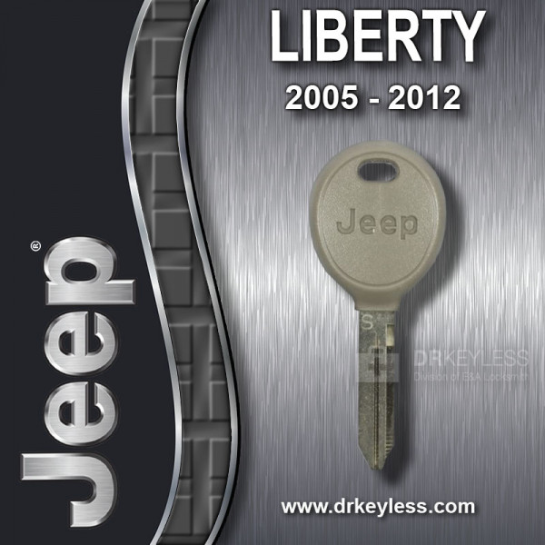 Jeep Liberty Transponder Key with Logo 05102247AA / 2005 - 2012