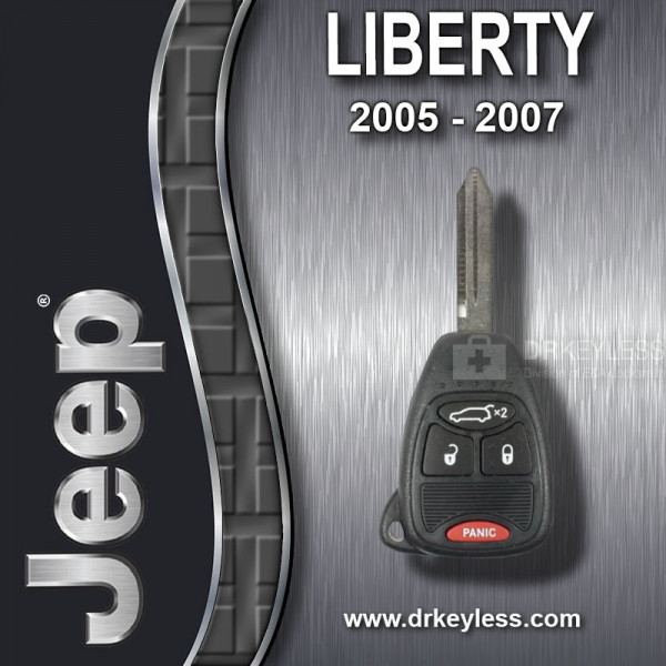 Jeep Liberty Remote Head Key 4B Hatch - M3N5WY72XX / OHT692714AA / 2005 - 2007