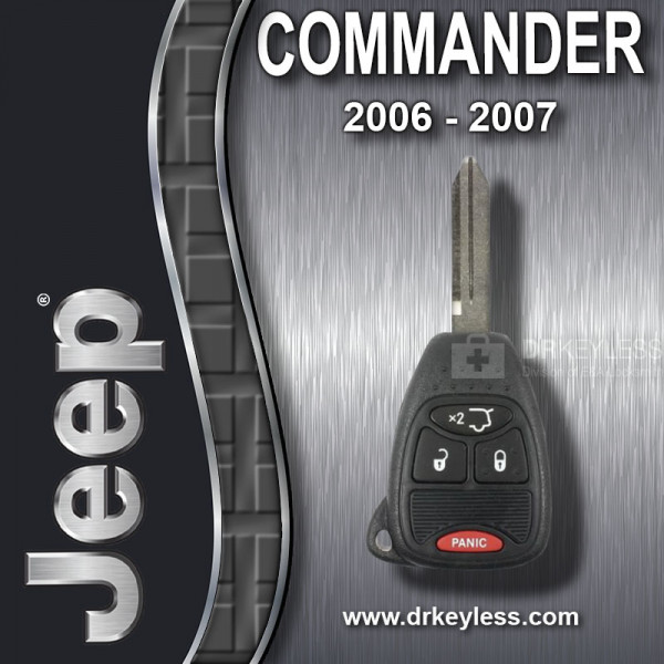 REFURBISHED Jeep Commander Remote Head Key 4B Hatch Glass / OHT692713AA / 2006 - 2007