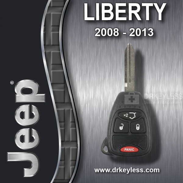 REFURBISHED Jeep Liberty Remote Head Key 4B Hatch Glass / OHT692713AA / 2008 - 2013