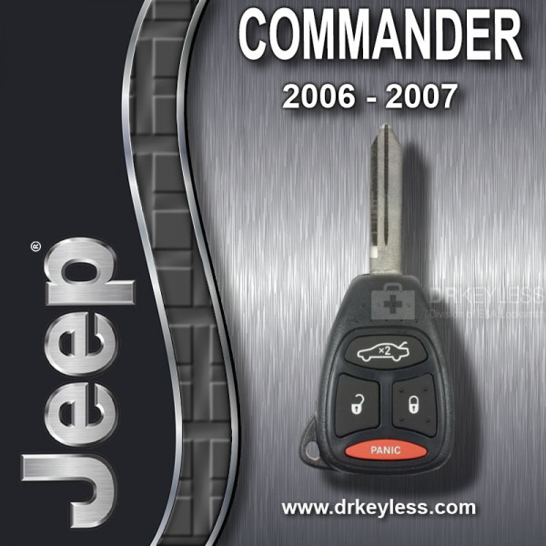 REFURBISHED Jeep Commander Remote Head Key 4B with Trunk / KOBDT04A / 2006 - 2007
