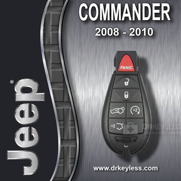 Jeep Commander Fobik Key 6B Hatch / Hatch Glass / Remote Start / IYZ-C01C / 2008 - 2010