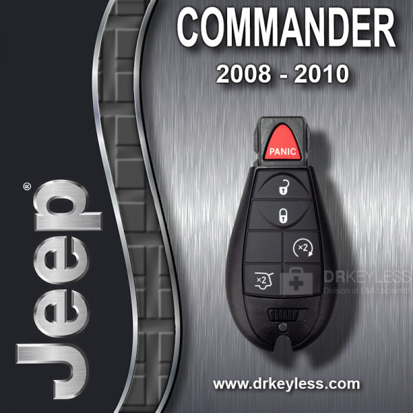 REFURBISHED Jeep Commander Fobik Key 5B Hatch Glass / Remote Start / IYZ-C01C / 2008 - 2010