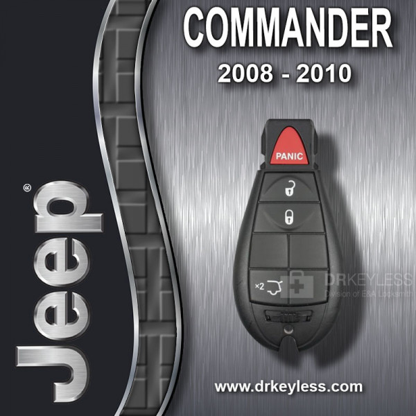 REFURBISHED Jeep Commander Fobik Key 4B Hatch Glass / IYZ-C01C / 2008 - 2010