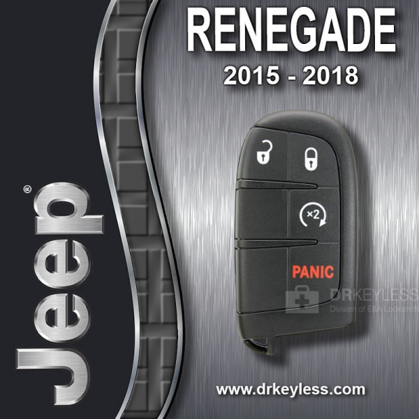 REFURBISHED Jeep Renegade Smart Key 4B Remote Start M3N40821302 / 2015 - 2018