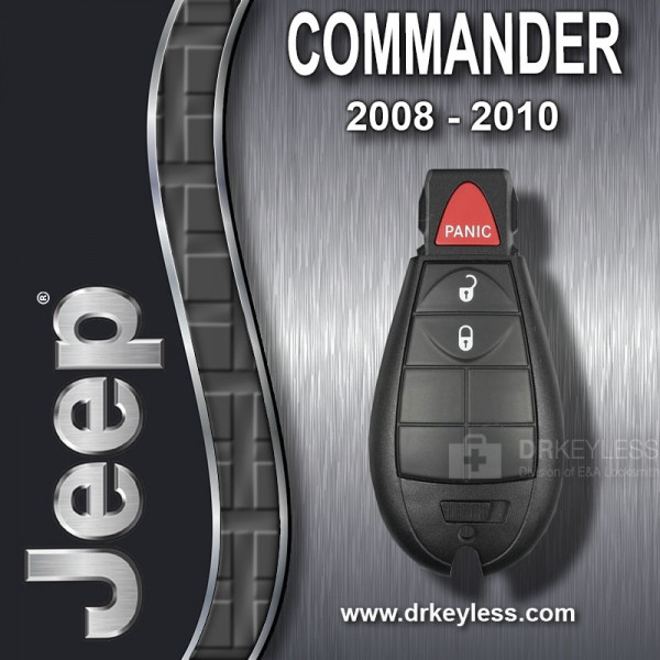REFURBISHED Jeep Commander Fobik Key 3B / IYZ-C01C / 2008 - 2010