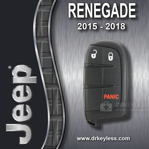 REFURBISHED Jeep Renegade Smart Key 3B - M3N40821302 / 2015 - 2018
